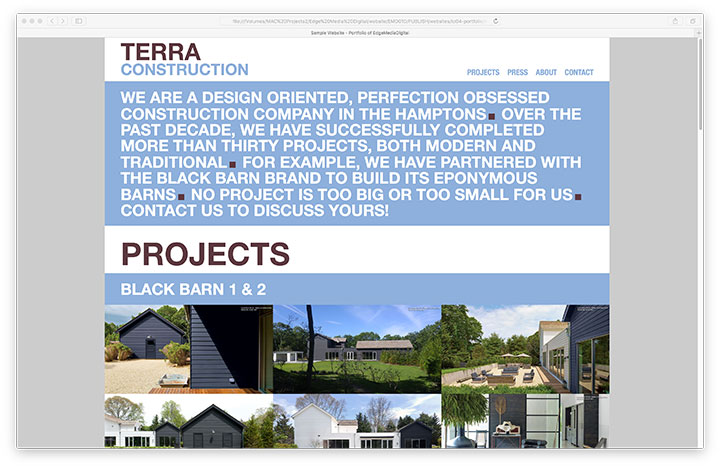 Website - Terra Construction