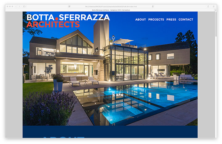 Website - Botta Sferrazza Architects