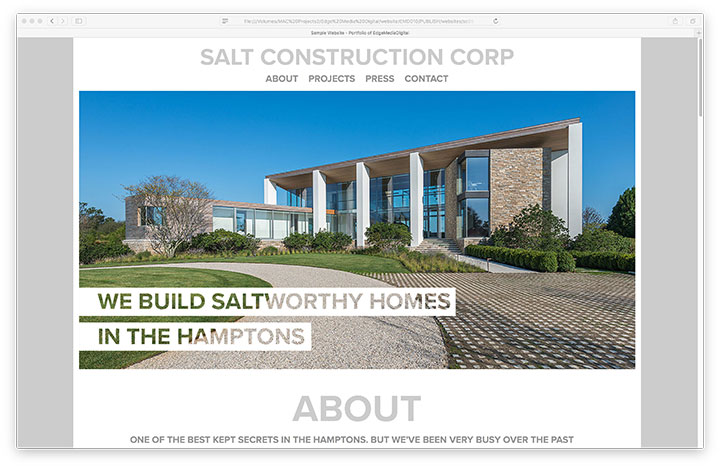 Website - Salt Construction